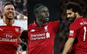 Mohamed Salah, Sadio Mané et Pierre E Aubameyang sont les…