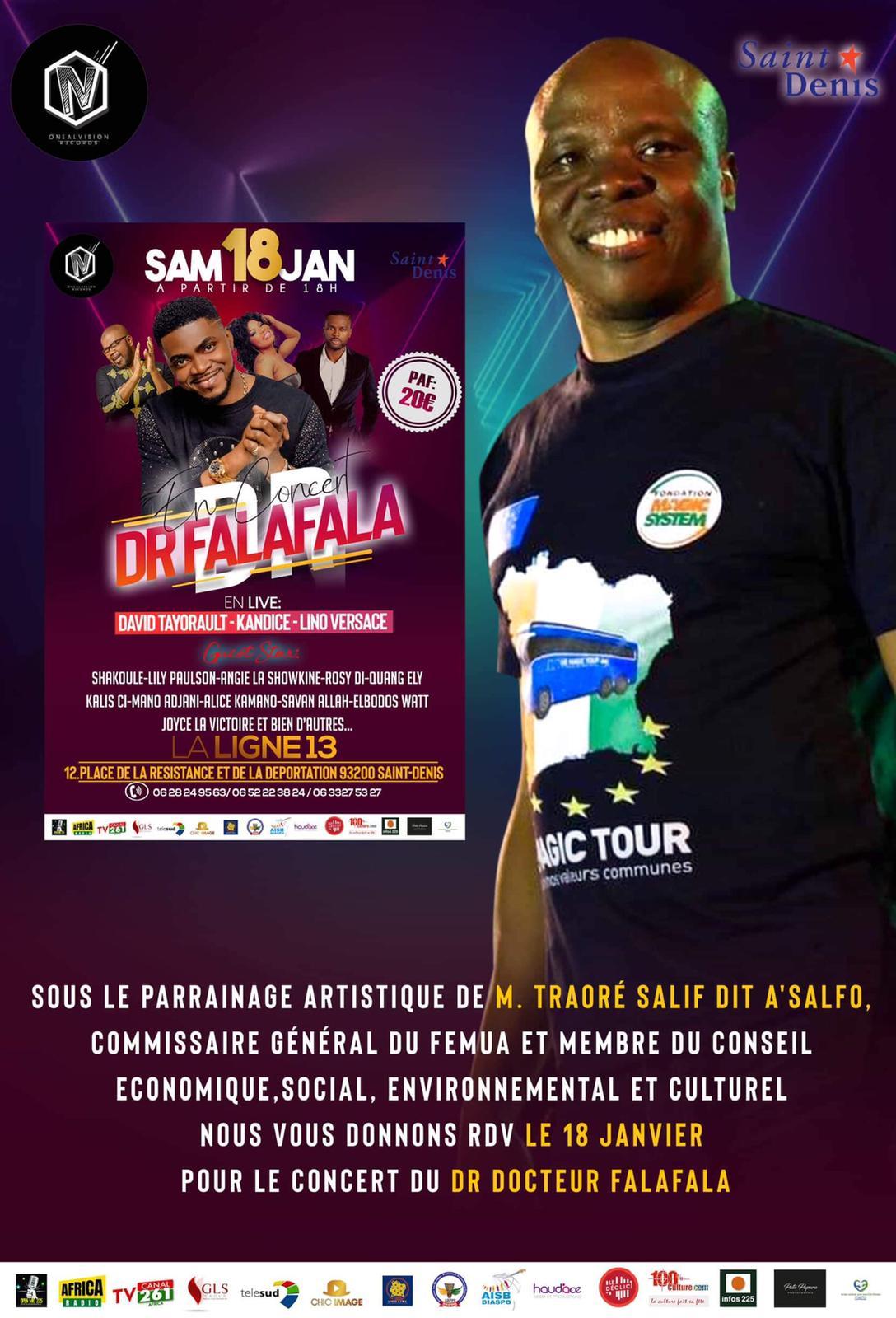 Dr Falalala en concert le 18 Janvier à la ligne…