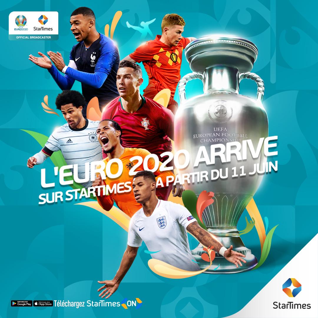 Euro 2020: StarTimes diffusera tous les matchs de l'Euro 2020…